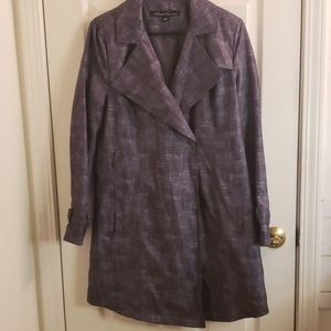 Kenneth Cole Lightweight Coat Gray Small